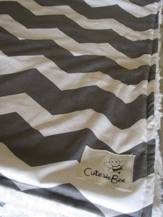 Gray & White Chevron Baby Blanket.