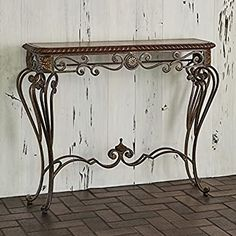 Amazon.com: Ambella Home Collections Hanover Console Table: Kitchen & Dining Furniture Deals, New Furniture, Wood Sofa Table, Best Buffet, Metal End Tables, Bronze Chandelier, Furniture Vanity, Wood Crosses, Cool Coffee Tables