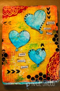 Tracie Stroud | Dream Without Fear | Art Journal Tutorial+