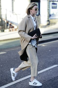 neutrals with adidas kicks #style #fashion #sneakers