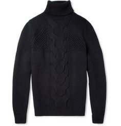 Exemplaire Cable Knit Rollneck Cashmere Sweater MR PORTS *Cable knit for a chilly fall weekend