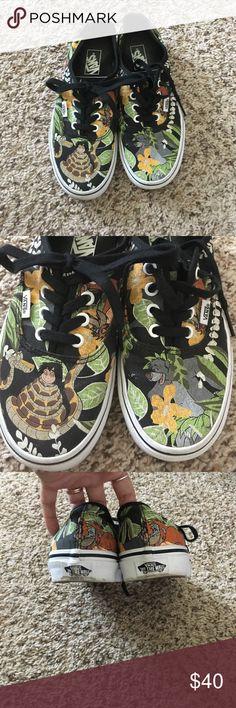 Disney jungle book vans women's 6.5 Only worn a few times! Disney vans. Women's 6.5, men's 5.0 Vans Shoes Sneakers