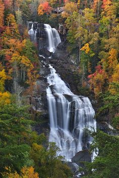 Beautiful photo of Upper Whitewater Falls, North Carolina's Highest Waterfall . You can use Upper Whitewater Falls, North Carolina's Highest. North Carolina Mountains, South Carolina, Places To Travel, Places To See, Beautiful World, Beautiful Places, Amazing Places, All Nature, Amazing Nature