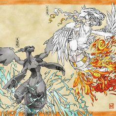 Ilustraciones de pokemon en el antiguo japón |