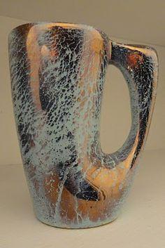 Poterie Laurentienne, crazy glaze mug.