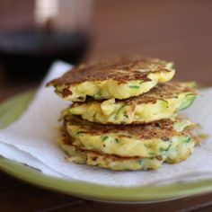 Summer Squash Fritters - I grew up with a plate of these set out on the counter for snacking every summer! Great way to get your kids to enjoy summer squash.