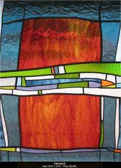 Patchwork is a stained glass artwork; click to return to thumbnail images.