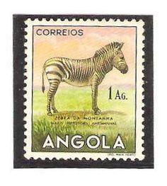 Angola 1953, 1 Ag. Mountain Zebra.