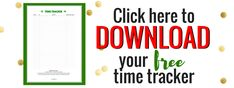 How To Do Everything Time Tracker printable download banner