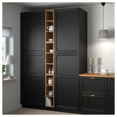 IKEA - VADHOLMA Open storage brown, stained ash good for gaps in cabinetry Diy Kitchen Storage, Kitchen Cabinet Organization, Kitchen Pantry, Kitchen Decor, Kitchen Island, Ikea Storage Cupboards, Ikea Kitchen Storage Cabinets, Open Cabinets In Kitchen, Ikea Pantry