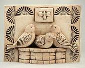 Ceramic Tile, Three Birds