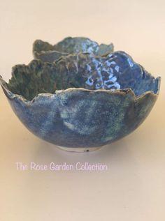 Hand pressed into mould with textured inner. Serving Bowls, Ring, Tableware, Garden, Rings, Dinnerware, Garten, Tablewares, Gardens