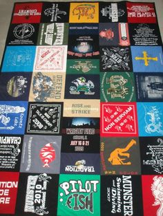 GUY GIFT Custom TShirt Dorm Blanket by BlueMoonWearableArt on Etsy, $380.00