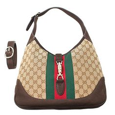 08bff29d6d4cf4 Gucci Jackie Medium Shoulder Bag Brown Beige Cocoa Handbag Bag Italy New