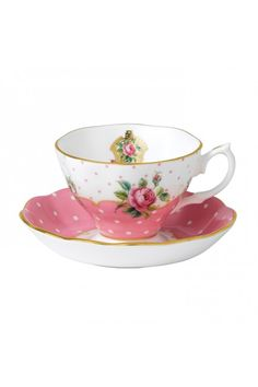 Cheeky Pink Vintage Teacup & Saucer from Royal Albert