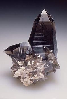 Quartz var.Smoky Japan-law Twin - Tiro Estrella Mine, El Capitan Mountains, Capitan District, Lincoln County, New Mexico, USA Size: 8.0 x 7.0 x 6.5 cm / mim museum