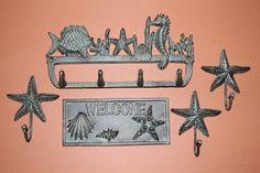 Deluxe Cast Iron Nautical Bath Accessory Collection ~ In The Sea 19