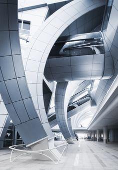 Dubai International Airport   Terminal 3   Architect: Paul Andreu - Dubai, United Arab Emirates. ☮k☮ #architecture