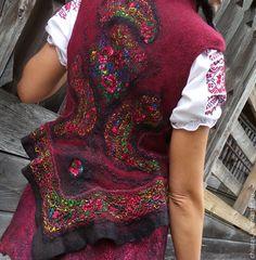 Купить Жакетик в народном стиле - жакет в народном стиле, этно стиль, авторский жакет, жилетка
