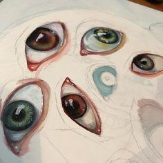 """618 gilla-markeringar, 14 kommentarer - S.G.DeCarlo (@sgdecarlo) på Instagram: """"Eyeballs for days #acrylicpainting"""""""