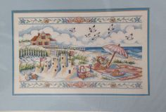 Castles In The Sand Dimensions Counted Cross Stitch Beach Susan Winget 16x10 New