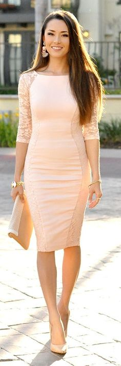 Petal Pink Bodycon Inspiration Dress by Hapa Time