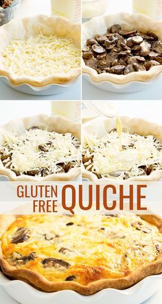 Make the perfect gluten free quiche every time with the right ratio of eggs to milk, and a light and flaky crust. Try adding mushrooms and cheese!