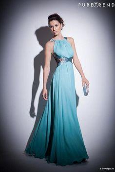 Vestido de madrinha azul longo Arthur Caliman - ótima opção para você eleger como seu modelito