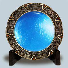 SOLD OUT Antique Bronze Spacegate Space Gate Stargate Geocoin Geocaching
