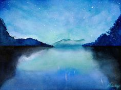 Endless Night Starry Starry Night 8x10 Giclee Print by SuisaiGenki