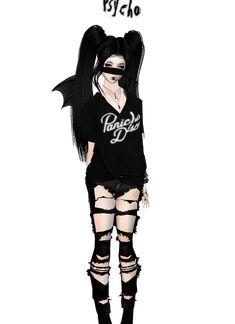 Emo Anime Girl, Pretty Anime Girl, Beautiful Anime Girl, Chica Anime Manga, Anime Chibi, Pretty Drawings, Kawaii Drawings, Cartoon Girl Images, Girl Cartoon