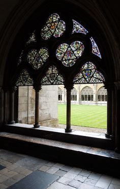 Cloisters at Westminster Abbey (I sat right there and took my own pic of myself! - Pam)