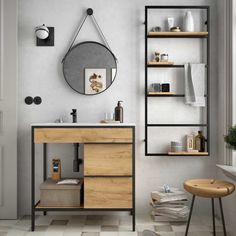 Industrial Design Furniture, Office Furniture Design, Metal Furniture, Bathroom Furniture, Bad Inspiration, Bathroom Inspiration, Bathroom Design Small, Bathroom Interior Design, Etagere Design