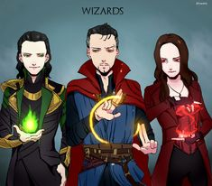 Marvel Wizards by Alloween.deviantart.com on @DeviantArt