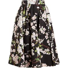 DOLCE & GABBANA Floral Cotton Skirt (1,185 BAM) ❤ liked on Polyvore featuring skirts, bottoms, saias, faldas, floral cotton skirt, floral print skirt, flower print skirt, dolce gabbana skirt and cotton pleated skirt