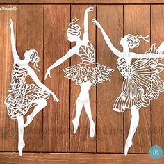 Ballet dancers  three SVG designs in one!