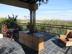 View from the Amphitheatre Game Lodge, Patio, Outdoor Decor, Home Decor, Decoration Home, Terrace, Room Decor, Porch, Interior Decorating
