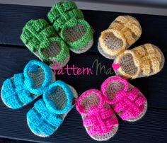 Crochet Baby Pattern Sandals. $5