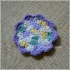 CrazySocks Crochet: CROCHET PATTERN - Simple Flower Coasters