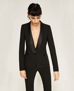 BLAZER WITH TUXEDO LAPEL-BLAZERS-WOMAN | ZARA United States                                                                                                                                                                                 More