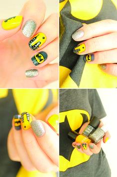 #NailArt sur le thème de Batman. #manucure #vernis