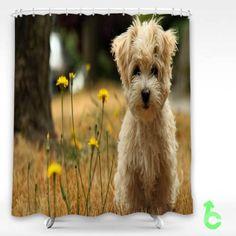 Cheap Dog Havana silk dog Shower Curtain