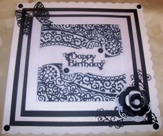 Black and White Double Delight, Tattered Lace Cards, Birthday Cards For Women, Embossed Cards, Die Cut Cards, Lace Design, Homemade Cards, Wedding Cards, Cardmaking