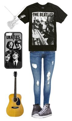 """""""While My Guitar Gently Weeps"""" by choice-to-be ❤ liked on Polyvore featuring Converse and Allurez"""