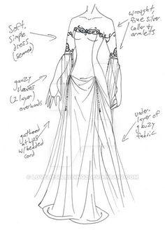 Emily's wedding dress