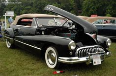 1948 Buick Roadmaster convertible, hood up Buick Cars, Buick Gmc, Vintage Cars, Antique Cars, Buick Roadmaster, Vintage Classics, Convertible, Us Cars, Love Car