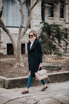 classic winter outfit how to wear gucci loafers celine belt bag Black Loafers Outfit, Loafers For Women Outfit, Womens Fashion Online, Latest Fashion For Women, Gucci Loafers Women, Celine Belt Bag, Pijamas Women, Try On, Autumn Winter Fashion