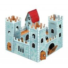 CALAFANT cardboard toys encourage and support childrens creativity. Level two toys come with 12 non toxic markers in the box and average 30 x 30 x 25 when built. CALAFANT cardboard toys can be pai. Cardboard Dollhouse, Cardboard Castle, Cardboard Toys, Kids Castle, Toy Castle, Fairy Houses, Play Houses, Forts En Carton, Castle Project