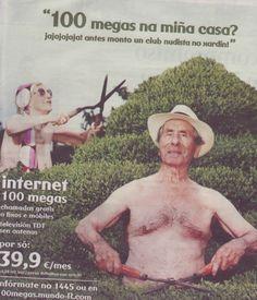 Publicidade de R en xornal.