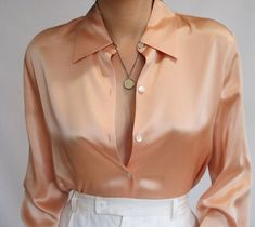 Satin Blouses, Silk Satin, Vintage Outfits, Stockings, Clothes, Tops, Women, Style, Buttons